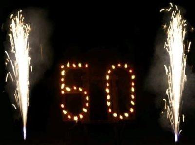 Lichterbild für ein Geburtstagsfeuerwerk Event Pyrotechnik Kulmbach