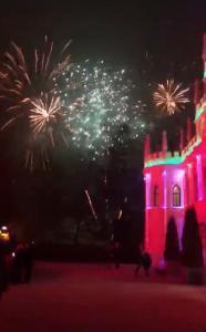 Feuerwerk am Feuerwerk am Dormero Schlosshotel Reichenschwand
